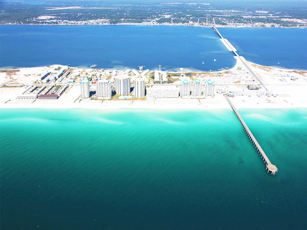 Navarre Beach Helicopter Shot