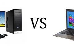 Desktops v.s. Laptops