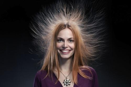 Your hair might go crazy because of the static in the air! Source: www.mystaticguard.com