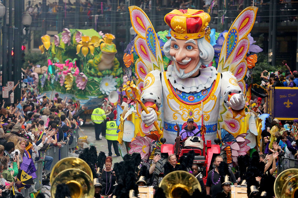 One of the Mardi Gras floats (The New Orleans Advocate).