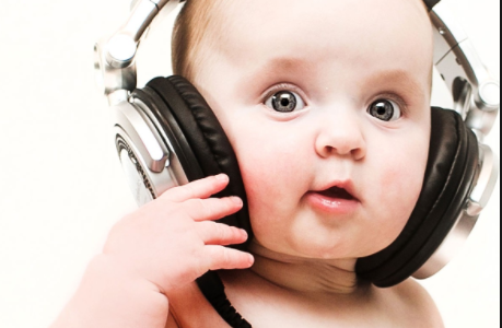 A baby listening to music  Source- Integrated Listening Systems