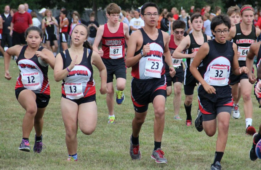 The Emporia High School running at their home meet. Source: Emporia Public Schools