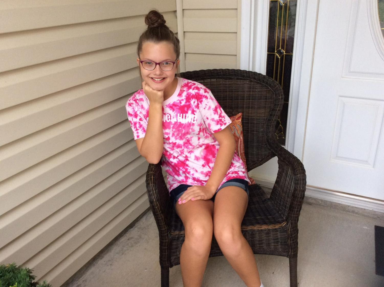 Kaylee Lane, a 7th grader at Emporia Middle School.
