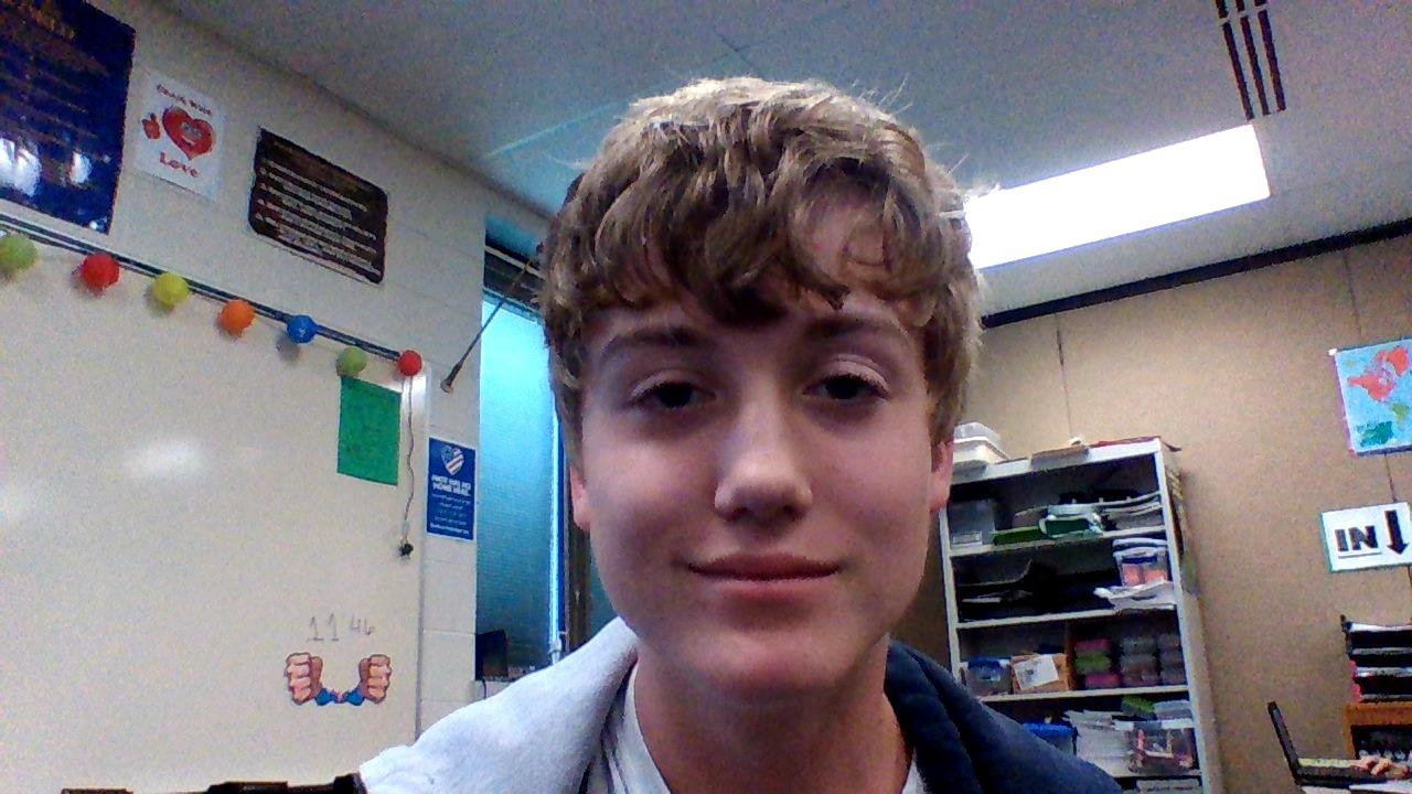 Nolan Heitman, a 7th grader, here at EMS