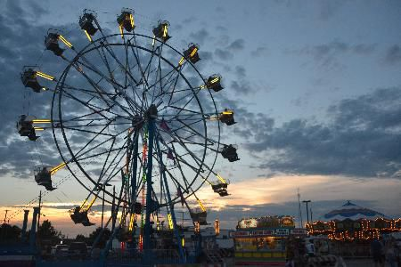 This is the carnival at the Lyon County Fair