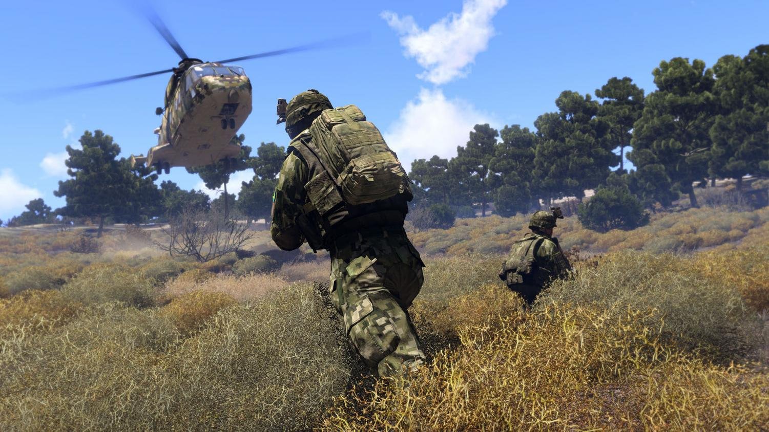 A screenshot from Arma 3's Steam page.