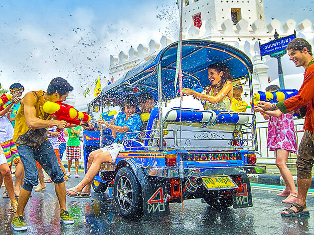 Songkran is the way that the new years is celebrated in Thailand