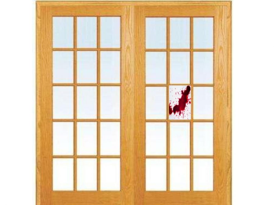This is a French Door with blood