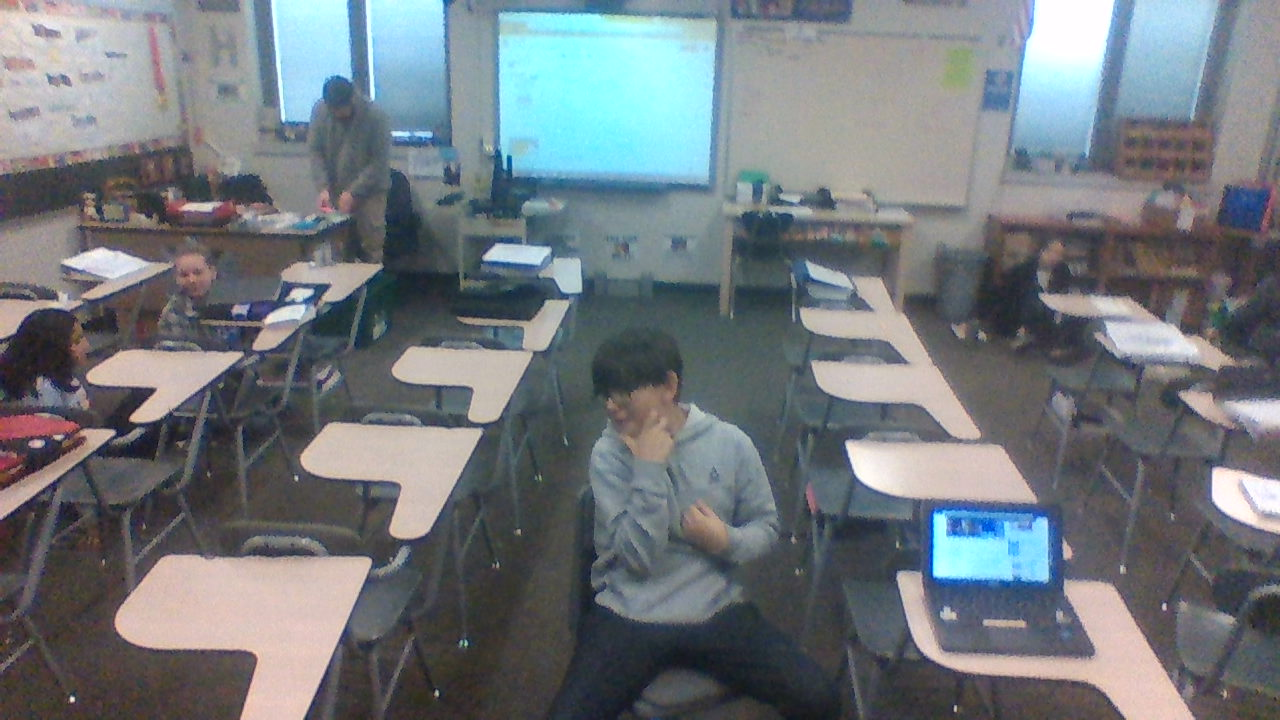 This Is a picture of The World Studies Classroom And One of Its Students, Tyler