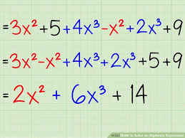 This is an image of solving an expression as a better example.