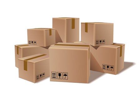 Clip art of Moving boxes
