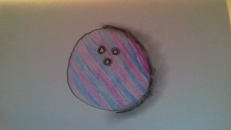 My drawing of a bowling ball.