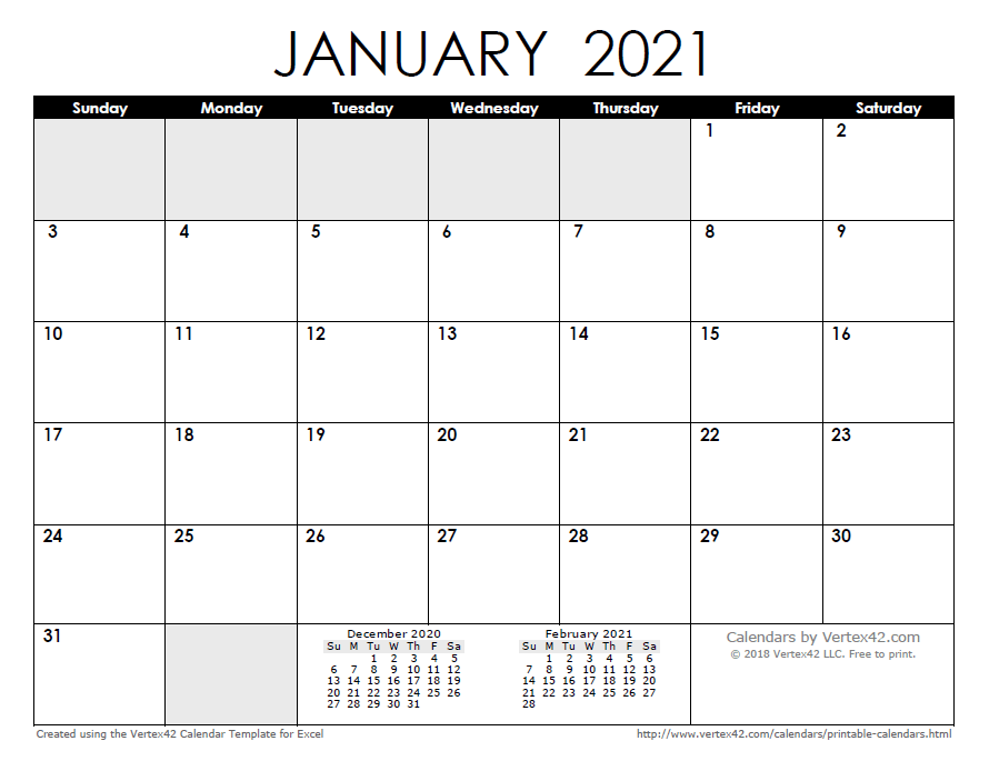 Don't forget to circle your dates!