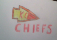 My drawing of the Kansas City Chiefs. Go Chiefs!