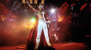 Freddie Mercury at his last concert.