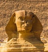 Sphynx from the great Pyramids of Giza.