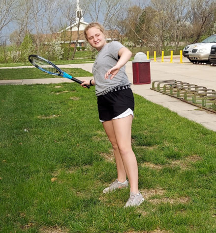 This is Peyton, an athlete on the EMS Tennis team.